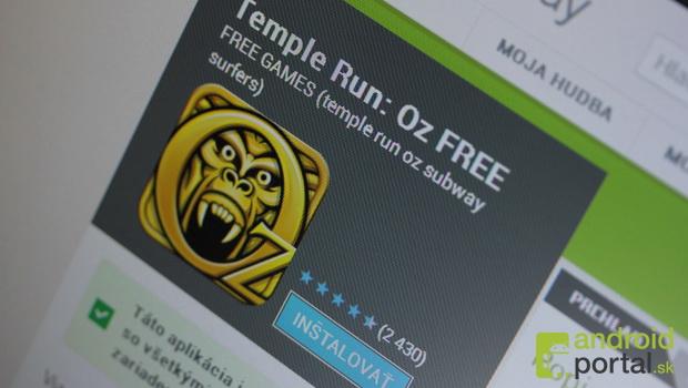 Play sa objavili falošné kópie Temple Run: Oz a Subway Surfers