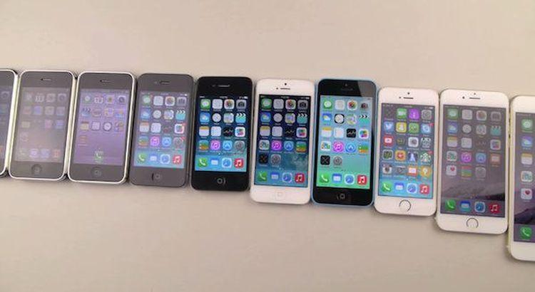 Všetky iPhony