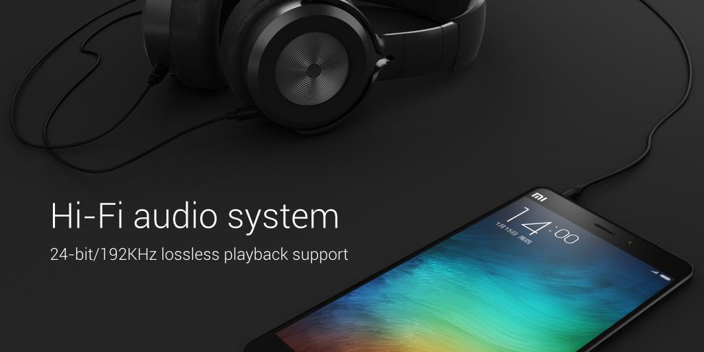 Audio systém v Mi Note Pro