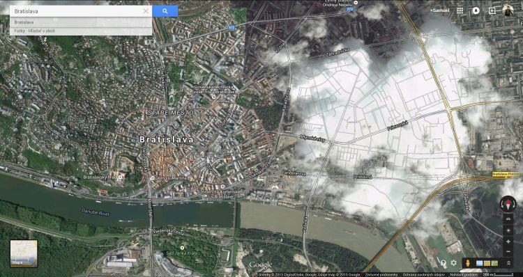 Bratislava v oblakoch: v novej verzii google maps bratislavu kvôli
