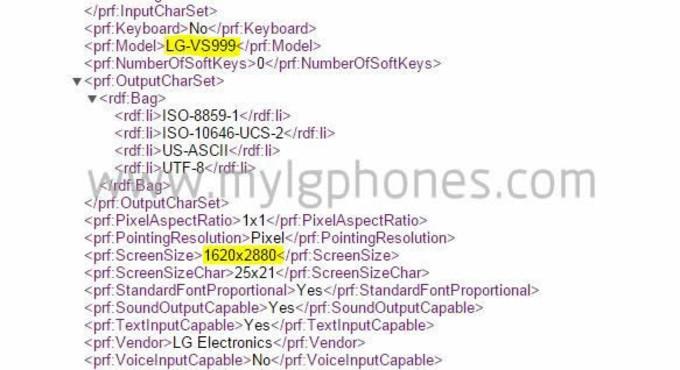 LG G4 displej rozlisenie