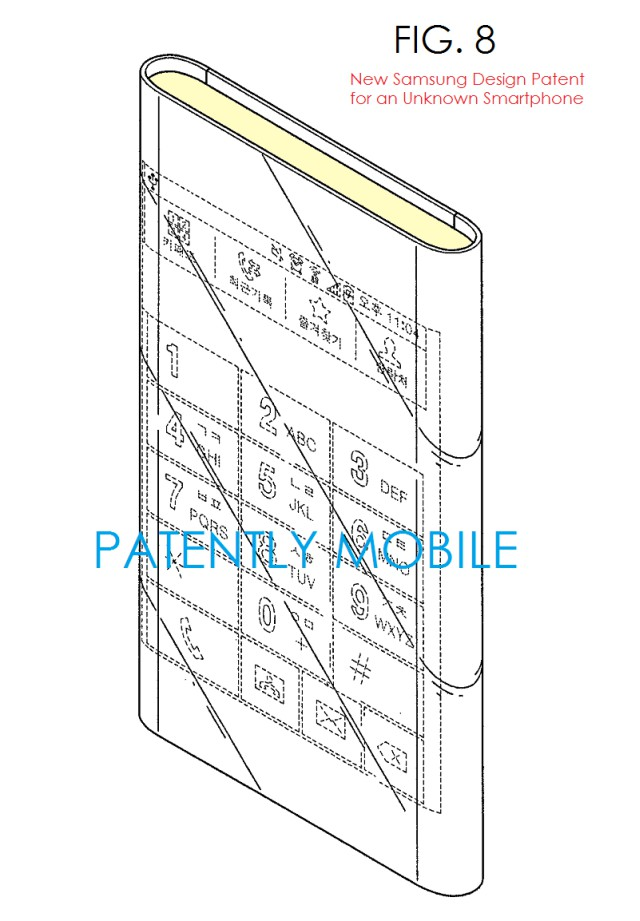 Samsung-patents-for-a-wrap-around-display-phone