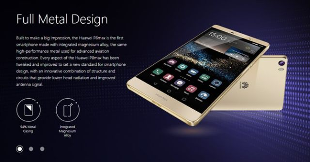 Huawei P8 okraje