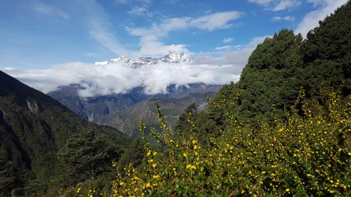 Pohľad na Mt. Everest z druhej strany hory
