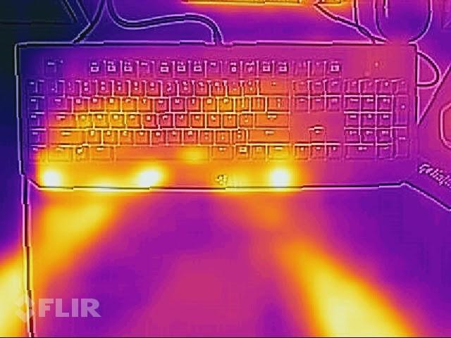 Tepelná stopa po písaní na klávesnici