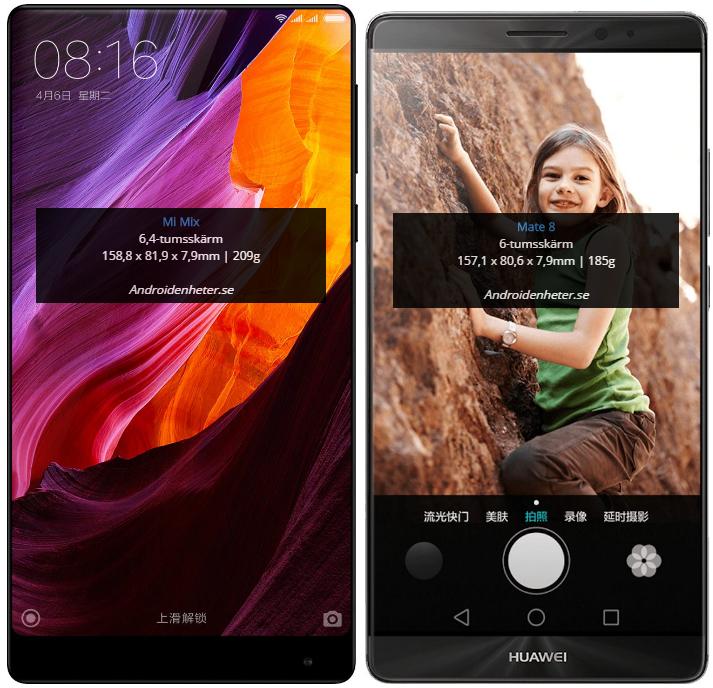 """Huawei Mate 8 - 6"""" displej, rozmery 157,1 x 80,6 x 7,9 mm"""