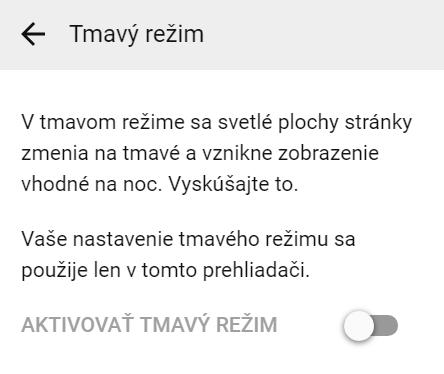 tmavy rezim