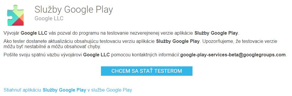 sluzby google play